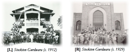 The Gurdwara in Stockton, California (source: sikhcentury.us)